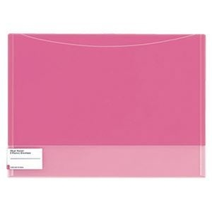 その他 (まとめ)コクヨ クリヤーホルダー(2ポケットエンベロープ)A4 ピンク フ-5770P 1セット(5枚)【×10セット】 ds-2309404