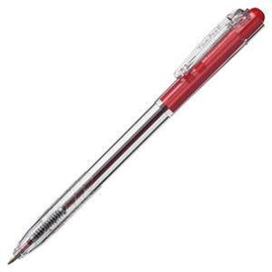 その他 (まとめ)TANOSEE ノック式油性ボールペン0.7mm 赤(軸色:クリア)1セット(100本:10本×10パック)【×5セット】 ds-2309678