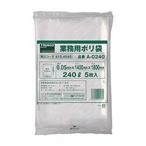 その他 (まとめ)TRUSCO 業務用ポリ袋 240LA-0240 1パック(5枚)【×5セット】 ds-2309991