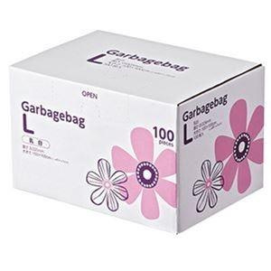 その他 (まとめ)TANOSEE 丸底耳付ゴミ袋乳白半透明 L BOXタイプ 1箱(100枚)【×5セット】 ds-2309995