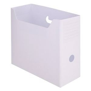 その他 (まとめ)TANOSEE PP製ボックスファイル(組み立て式)A4ヨコ ホワイト 1セット(10個)【×5セット】 ds-2311074