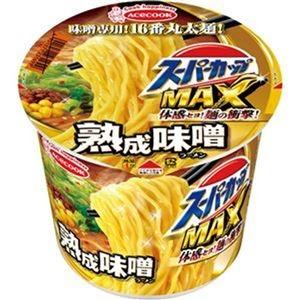 その他 (まとめ)エースコック スーパーカップ MAX熟成味噌 138g 1ケース(12食)【×4セット】 ds-2311255