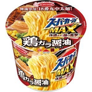 その他 (まとめ)エースコック スーパーカップ MAX鶏ガラ醤油 119g 1ケース(12食)【×4セット】 ds-2311256
