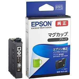 その他 (まとめ)エプソン インクカートリッジ マグカップ ブラック MUG-BK 1個【×5セット】 ds-2311346