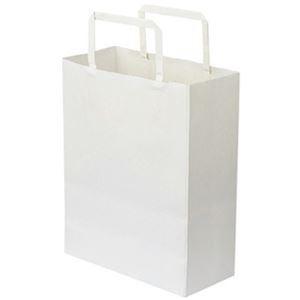 その他 (まとめ)TANOSEE 紙手提袋 平紐 特小ヨコ200×タテ245×マチ幅90mm 白無地 1セット(300枚:50枚×6パック)【×3セット】 ds-2311492