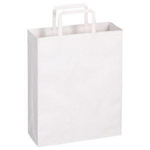 その他 (まとめ)TANOSEE 紙手提袋 平紐 小ヨコ260×タテ320×マチ幅100mm 白無地 1セット(300枚:50枚×6パック)【×3セット】 ds-2311493