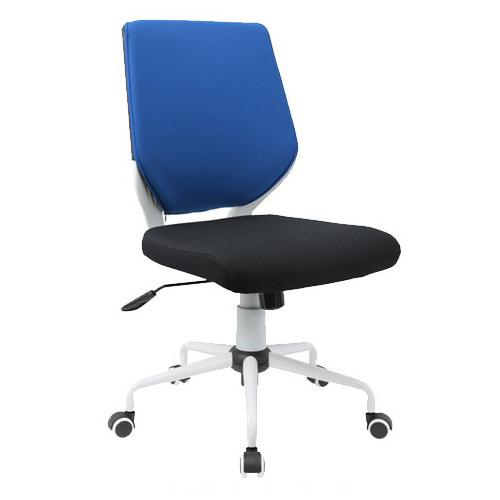 スタンザインテリア シンプルなオフィスデスクチェア Change チェンジ ホワイトフレーム (ブルー×ブラック肘なし) kg76041bu