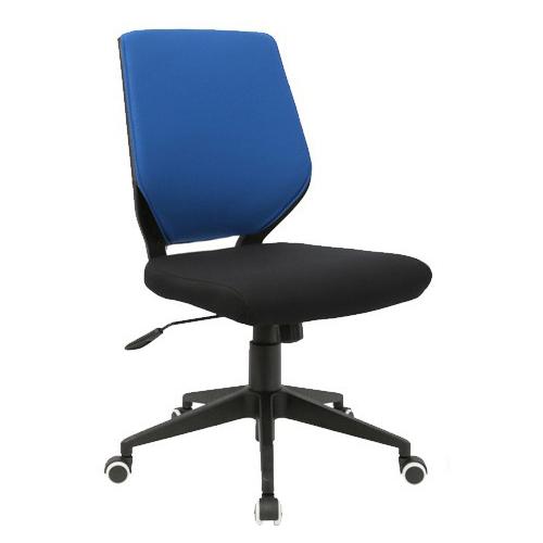 スタンザインテリア シンプルなオフィスデスクチェア Change チェンジ ブラックフレーム (ブルー×ブラック肘なし) kg76051bu