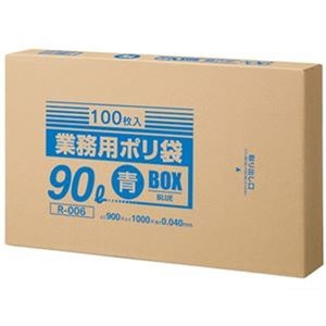 その他 (まとめ)クラフトマン 業務用ポリ袋 青 90LBOXタイプ 1箱(100枚)【×3セット】 ds-2311686