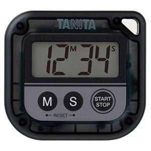その他 (まとめ)タニタ デジタルタイマー 丸洗いタイマー100分計 ブラック TD-376N-BK 1個【×3セット】 ds-2312182