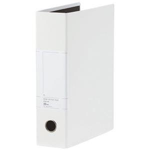 その他 (まとめ)TANOSEE 両開きパイプ式ファイルSt A4タテ 500枚収容 50mmとじ 背幅77mm ホワイト 1セット(10冊)【×3セット】 ds-2312578