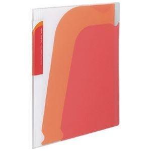 その他 (まとめ)コクヨ ポケットブック(ノビータ)チャックポケット付き A4タテ 約90枚収容 背幅10~25mm 赤 ラ-N205R 1セット(10冊)【×3セット】 ds-2312903