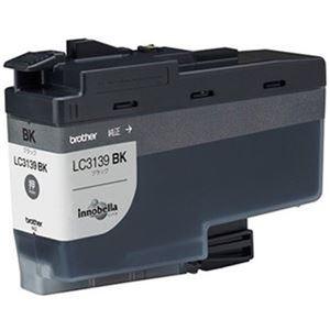 その他 (まとめ)ブラザー インクカートリッジ ブラック超大容量 LC3139BK 1個【×3セット】 ds-2313027