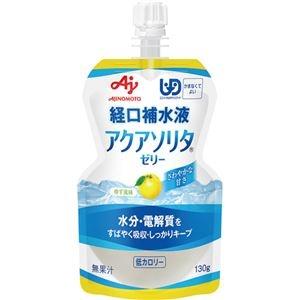 その他 (まとめ)味の素 アクアソリタ ゼリー ゆず風味130g 1ケース(6個)【×10セット】 ds-2299970