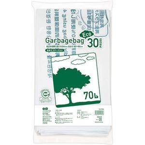 その他 (まとめ)TANOSEE リサイクルポリ袋(エコデザイン)乳白半透明 70L 1パック(30枚)【×10セット】 ds-2301046