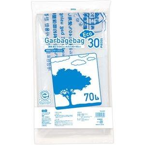 その他 (まとめ)TANOSEE リサイクルポリ袋(エコデザイン)透明 70L 1パック(30枚)【×10セット】 ds-2301047