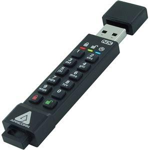 その他 Apricorn AegisSecure Key 3NX 暗証番号対応USBメモリー 32GB ASK3-NX-32GB 1個 ds-2289398