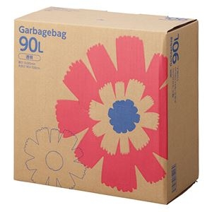 その他 TANOSEE ゴミ袋 コンパクト 透明90L BOXタイプ 1セット(330枚:110枚×3箱) ds-2293021