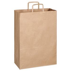 その他 TANOSEE 紙手提袋 平紐 特大ヨコ340×タテ480×マチ幅170mm 茶無地 1セット(300枚:50枚×6パック) ds-2293879