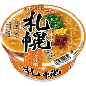 その他 (まとめ)サンヨー食品 サッポロ一番 旅麺札幌味噌ラーメン 1ケース(12食)【×4セット】 ds-2296315