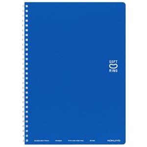 その他 (まとめ)コクヨ ソフトリングノート(ドット入り罫線)セミB5 B罫 40枚 ブルー ス-SV301BT-B 1セット(5冊)【×5セット】 ds-2296805