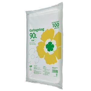 その他 (まとめ)TANOSEE ゴミ袋エコノミー 半透明 90L 1パック(100枚)【×5セット】 ds-2298292