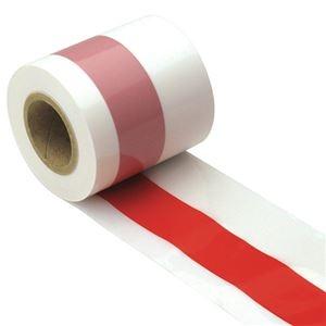 (まとめ)ササガワ その他 ds-2298806 50m巻40-3081 紅白テープ 1巻【×5セット】
