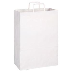 その他 (まとめ)TANOSEE 紙手提袋 平紐 特大ヨコ340×タテ480×マチ幅170mm 白無地 1パック(50枚)【×5セット】 ds-2298822