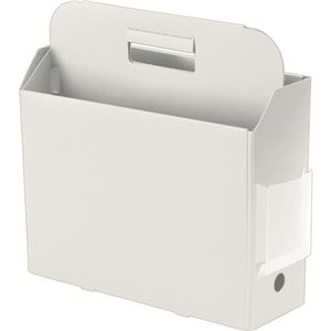 その他 (まとめ)プラス PPキャリーボックス+ A4E ホワイト FL-126BF 1個【×10セット】 ds-2299286