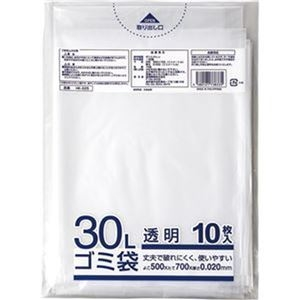 その他 (まとめ)クラフトマン 業務用透明メタロセン配合厚手ゴミ袋 30L HK-025 1パック(10枚)【×100セット】 ds-2303329