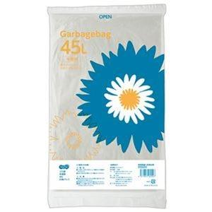 その他 (まとめ)TANOSEE ゴミ袋 半透明 45L 1パック(20枚)【×50セット】 ds-2303471