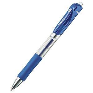 その他 (まとめ)TANOSEE ノック式ゲルインクボールペン 0.5mm 青 1セット(10本)【×20セット】 ds-2304671