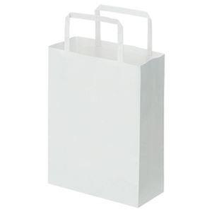 その他 (まとめ)TANOSEE 紙手提袋 平紐 極小ヨコ180×タテ240×マチ幅80mm 白無地 1パック(50枚)【×20セット】 ds-2304717