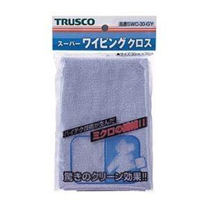 その他 (まとめ)TRUSCO スーパーワイピングクロス300×300mm グレー SWC-30-GY 1枚【×20セット】 ds-2304794