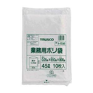 その他 (まとめ)TRUSCO 業務用ポリ袋 厚み0.05×20L A-0020 1パック(10枚)【×20セット】 ds-2305008