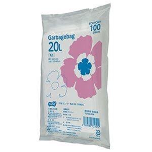 その他 (まとめ)TANOSEE ゴミ袋エコノミー乳白半透明 20L 1パック(100枚)【×20セット】 ds-2305009