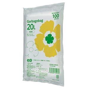 その他 (まとめ)TANOSEE ゴミ袋エコノミー 半透明 20L 1パック(100枚)【×20セット】 ds-2305010