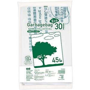 その他 (まとめ)TANOSEE リサイクルポリ袋(エコデザイン)乳白半透明 45L 1パック(30枚)【×20セット】 ds-2305014