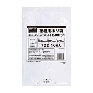 その他 (まとめ)TRUSCO業務用ポリ袋 0.045×70L(透明)B-0070N 1パック(10枚)【×20セット】 ds-2305016