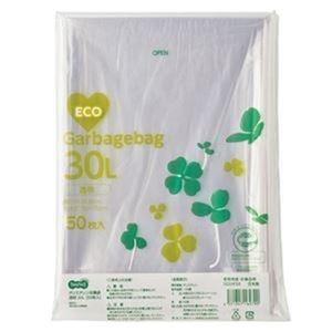 その他 (まとめ)TANOSEE ポリエチレン収集袋 透明30L 1パック(50枚)【×20セット】 ds-2305026