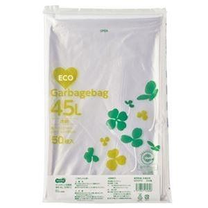 その他 (まとめ)TANOSEE ポリエチレン収集袋 透明45L 1パック(50枚)【×20セット】 ds-2305048