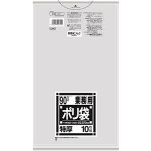 その他 (まとめ)日本サニパック Lシリーズ 業務用ポリ袋 特厚 透明 90L L98G 1パック(10枚)【×20セット】 ds-2305067