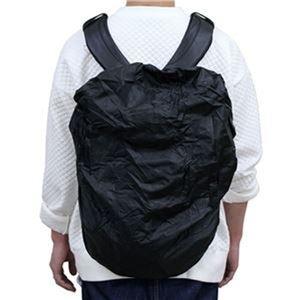 その他 (まとめ)東京パイプ 撥水リュックサックカバー ブラック 1枚【×20セット】 ds-2305284