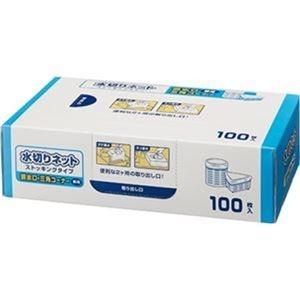 その他 (まとめ)TANOSEE 水切りネットストッキングタイプ 排水口・三角コーナー兼用 BOXタイプ 1箱(100枚)【×20セット】 ds-2305478