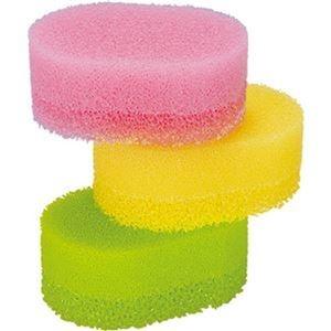 その他 (まとめ)アズマ工業 水切れの良いスポンジカラフル 3色組 1パック(3個:各色 1個)【×20セット】 ds-2305486