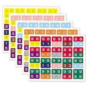 その他 (まとめ)リヒトラブ カラーナンバーラベル M2桁用 30×30mm HK752 1パック(100片)【×20セット】 ds-2305580