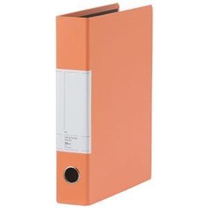 その他 (まとめ)TANOSEE 両開きパイプ式ファイルSt A4タテ 300枚収容 30mmとじ 背幅57mm オレンジ 1冊【×20セット】 ds-2306297