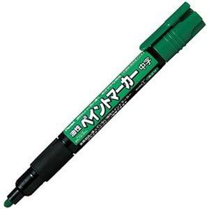 その他 (まとめ)ぺんてる 油性ペイントマーカー 中字 緑MMP20-D 1セット(10本)【×10セット】 ds-2306872