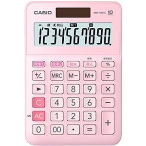 その他 (まとめ)カシオ W税率電卓 10桁ミニジャストタイプ ピンク MW-100TC-PK-N 1台【×10セット】 ds-2306993