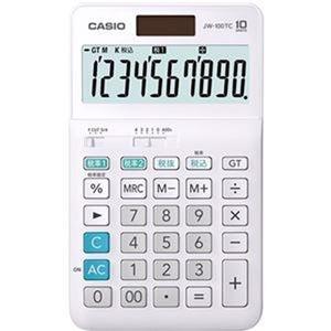 その他 (まとめ)カシオ W税率電卓 10桁ジャストタイプ JW-100TC-N 1台【×10セット】 ds-2306997